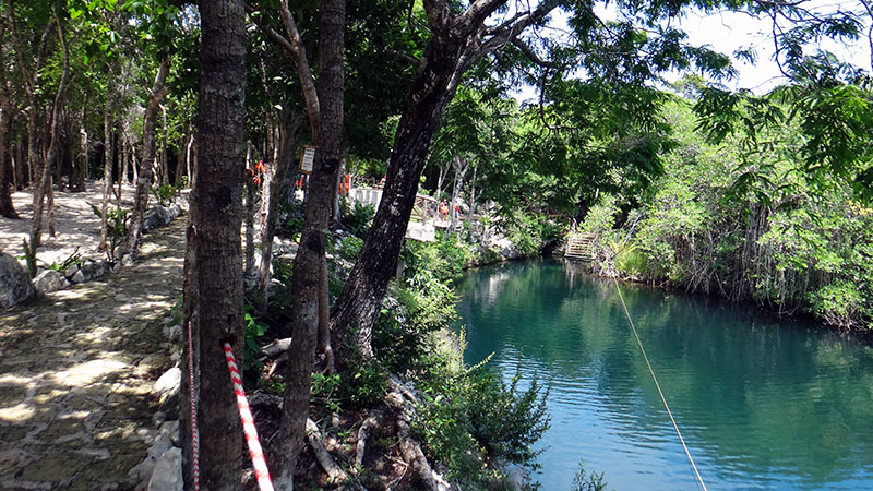 Cenote with zip line
