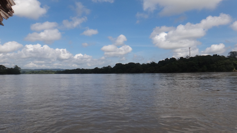 The Usumacinta River. That's Guatemala on the right.