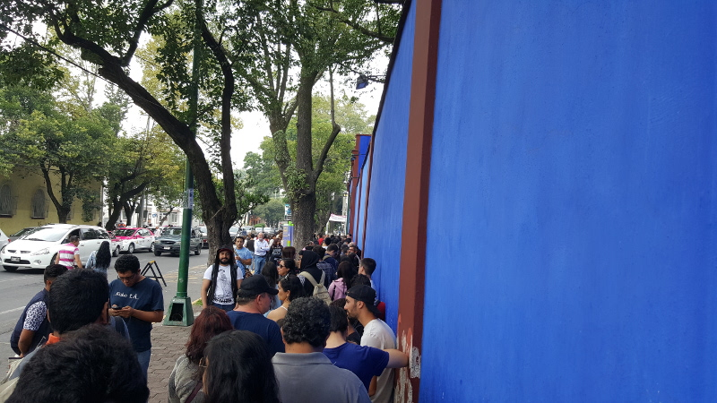 Line to the Frida Kahlo Museum